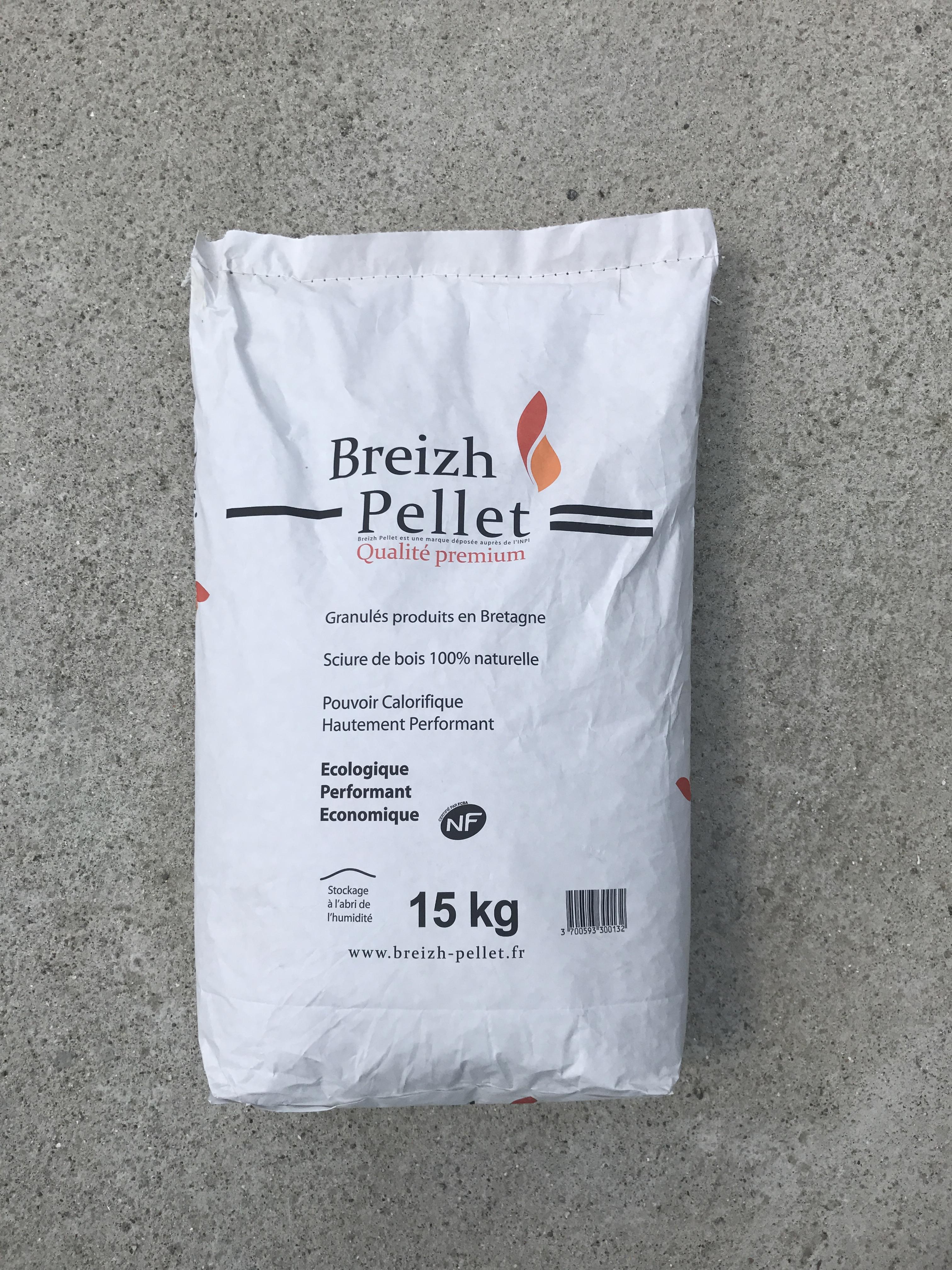 Palette de 65 sacs de Breizh Pellet Bois de chauffage et Fioul # Breizh Bois Energie