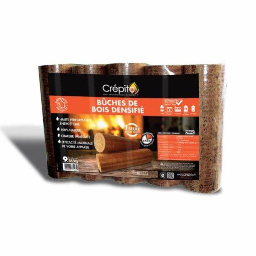 Pack de 5 bûches de bois densifié Crepito