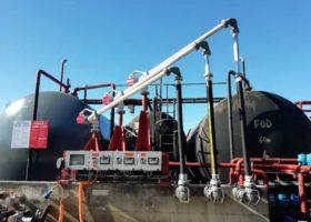 bras de chargement dépôt pétrolier